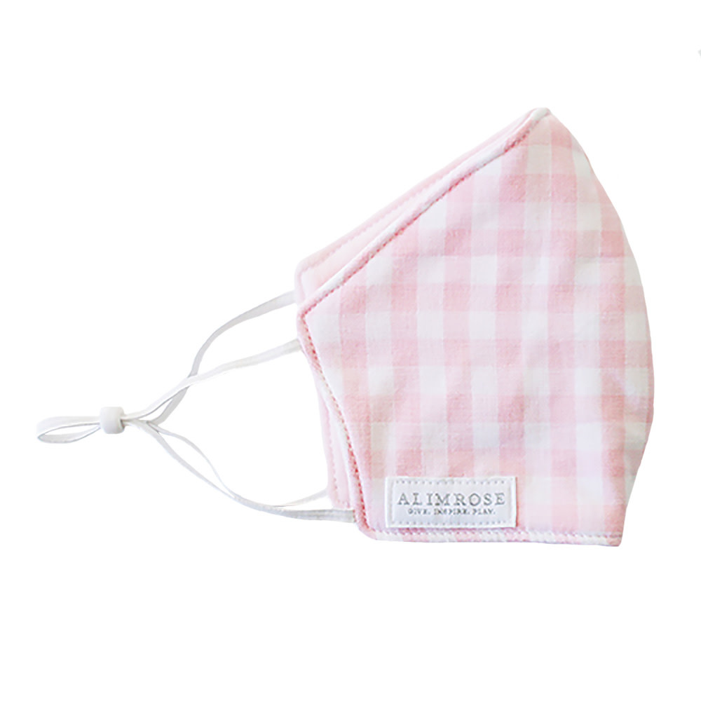 Alimrose Alimrose Youth Mask - Gingham Pink
