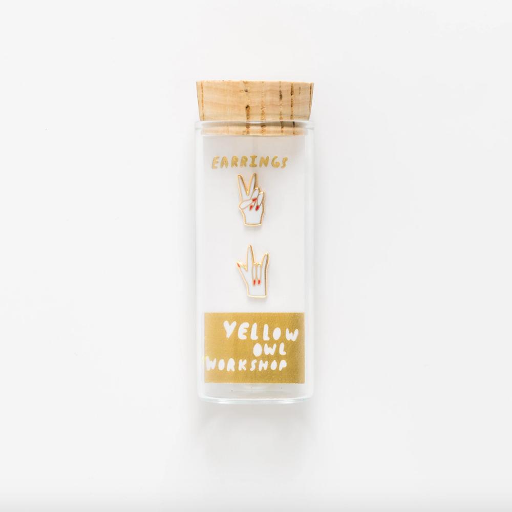 Yellow Owl Workshop Earrings - Peace & Love