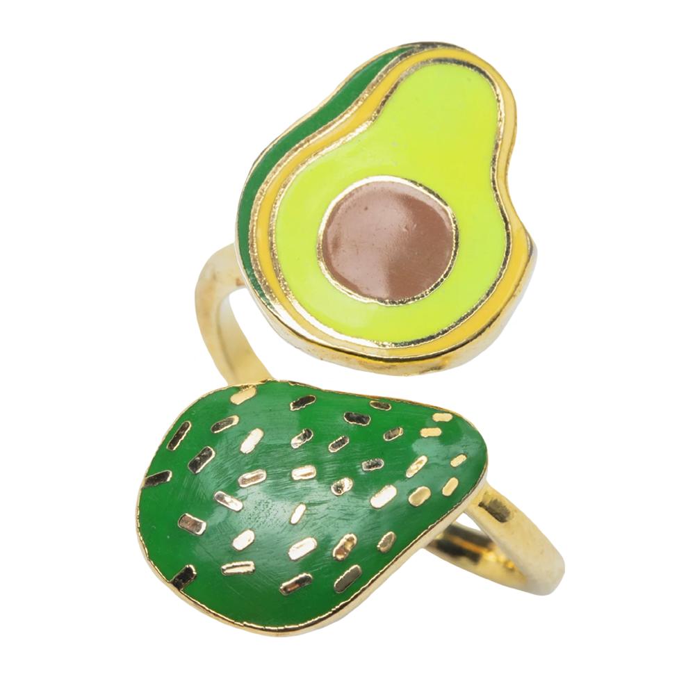 Yellow Owl Workshop Adjustable Ring - Avocado