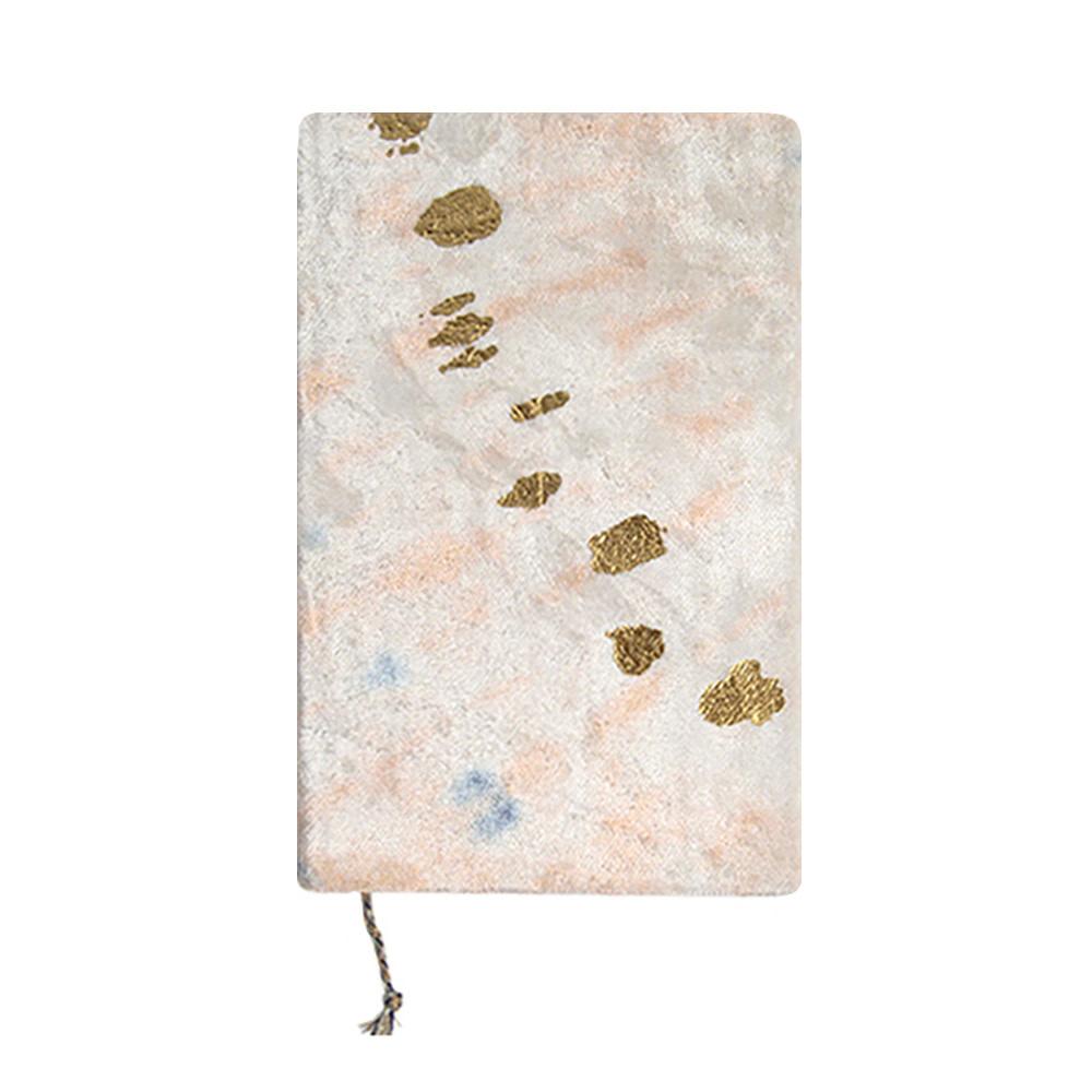 Printfresh Studio Journal - Blush Diagonal Tie Dye Medium Slim Velvet