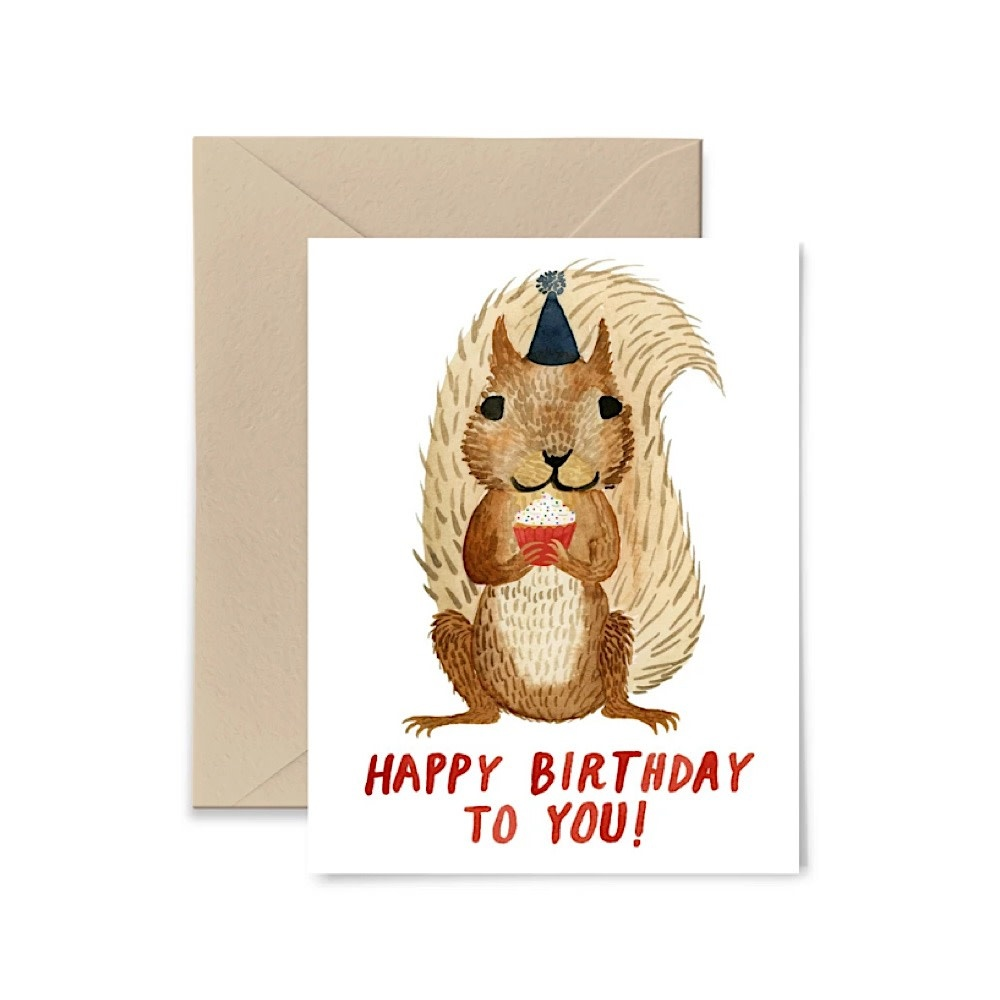 Little Truths Happy Birthday Squirrel Card