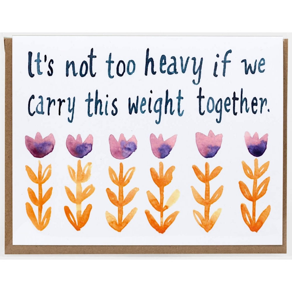 Little Truths It's Not Too Heavy Card