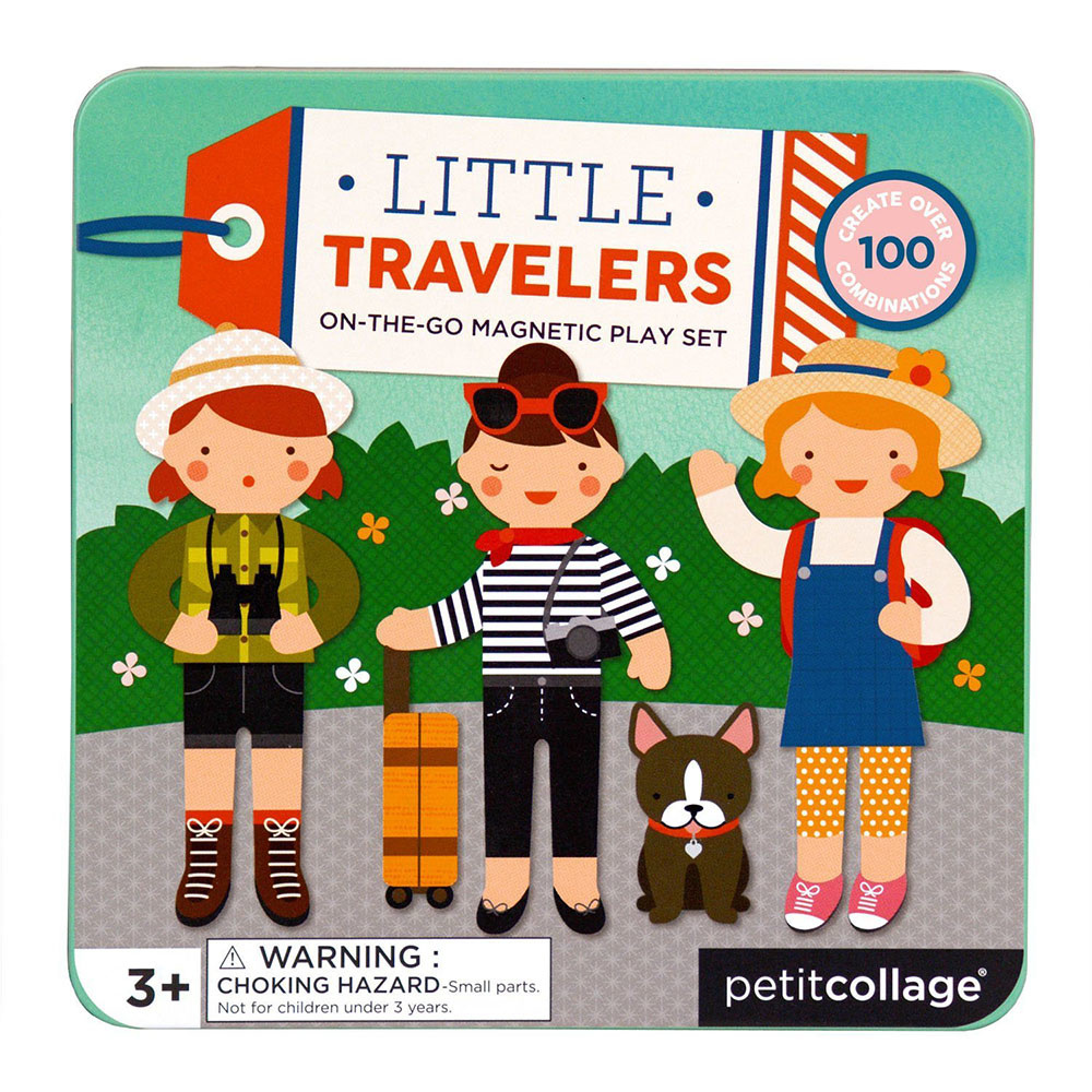 Petit Collage Petit Collage - Little Travelers On-The-Go Magnetic Play Set
