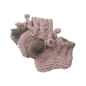 The Blueberry Hill The Blueberry Hill Booties - Blush - 0-12M