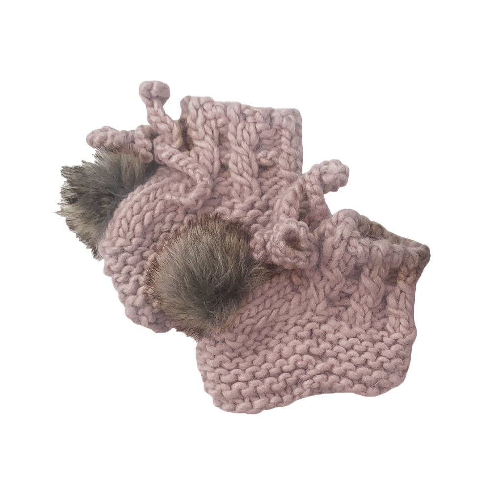 The Blueberry Hill Booties - Blush - 0-12M