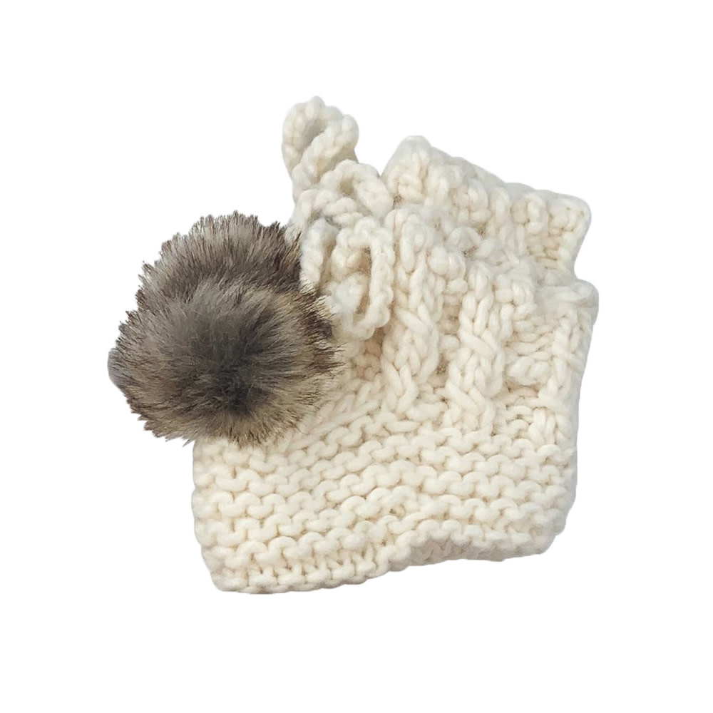 The Blueberry Hill Booties - Cream - 0-12M