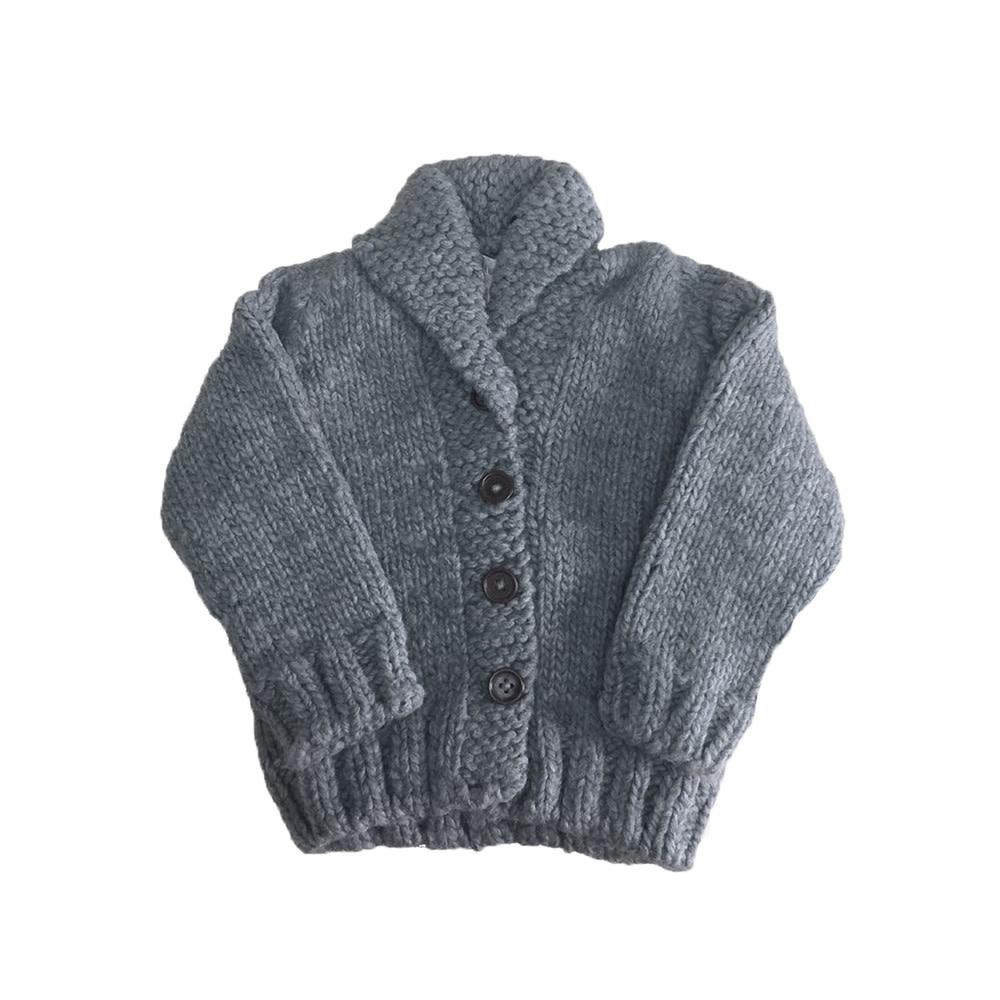 The Blueberry Hill Button-up Sweater - Zinc