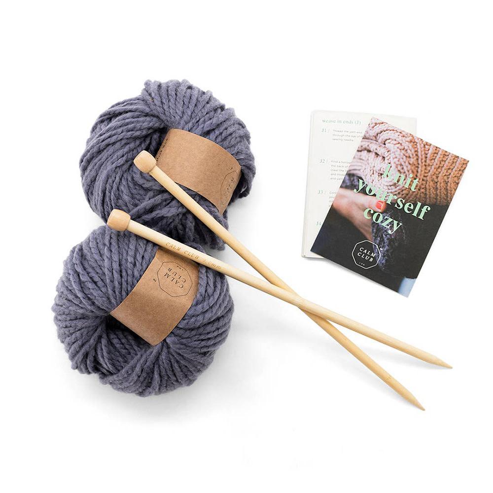 Calm Club Knitting Kit - Comfort Blanket
