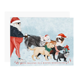 Ramus & Co Ramus & Co Card - Dog Walking in a Winter Wonderland