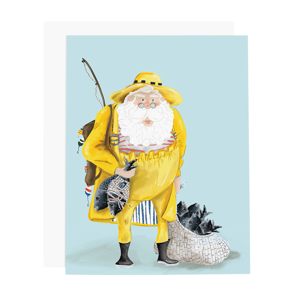 Ramus & Co Card - Santa Fisherman