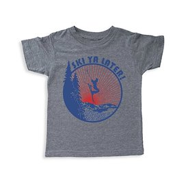 Tiny Whales Tiny Whales Ski Ya Later Short Sleeve Tee - Tri Gray