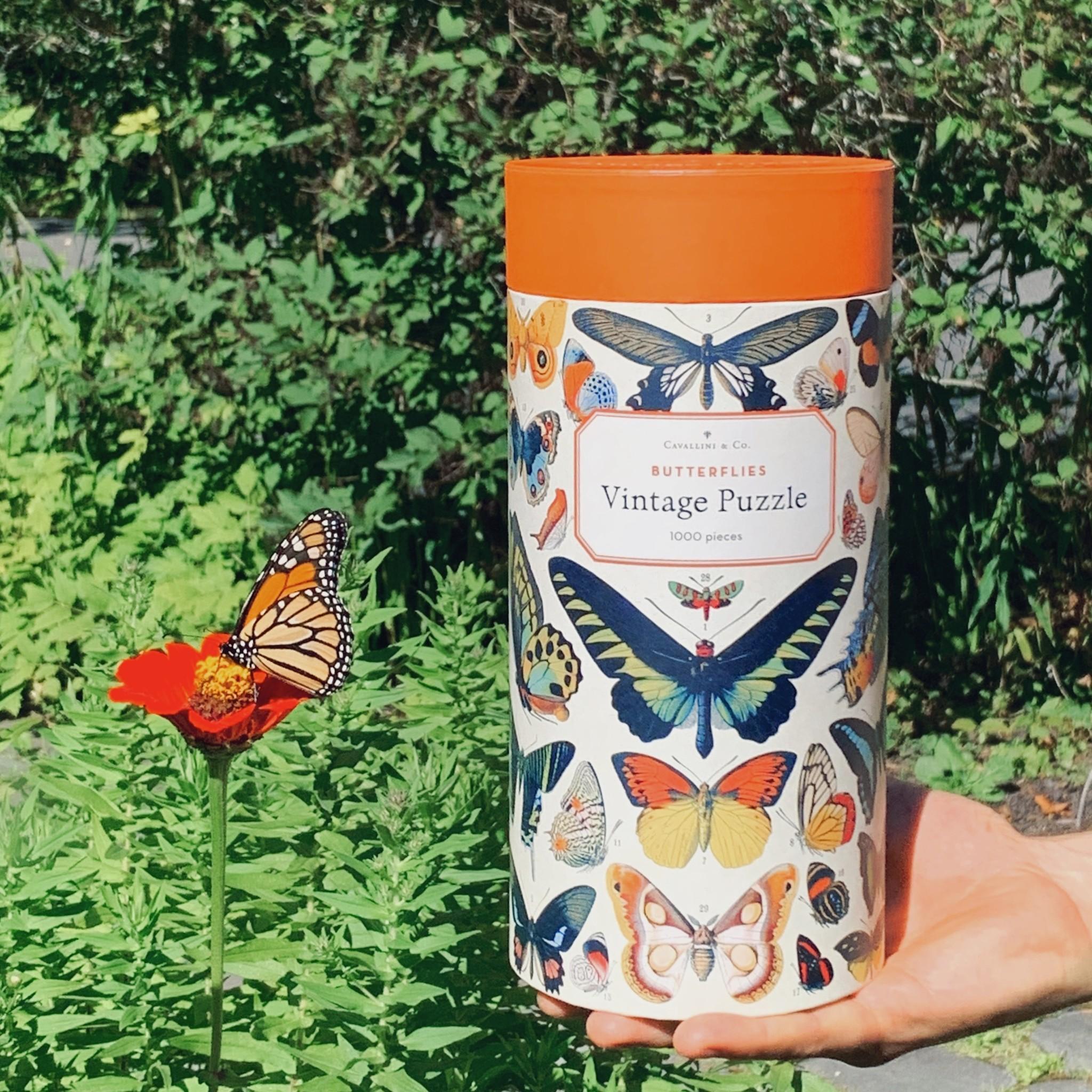 Cavallini Jigsaw Puzzle - Butterflies - 1000 Pieces