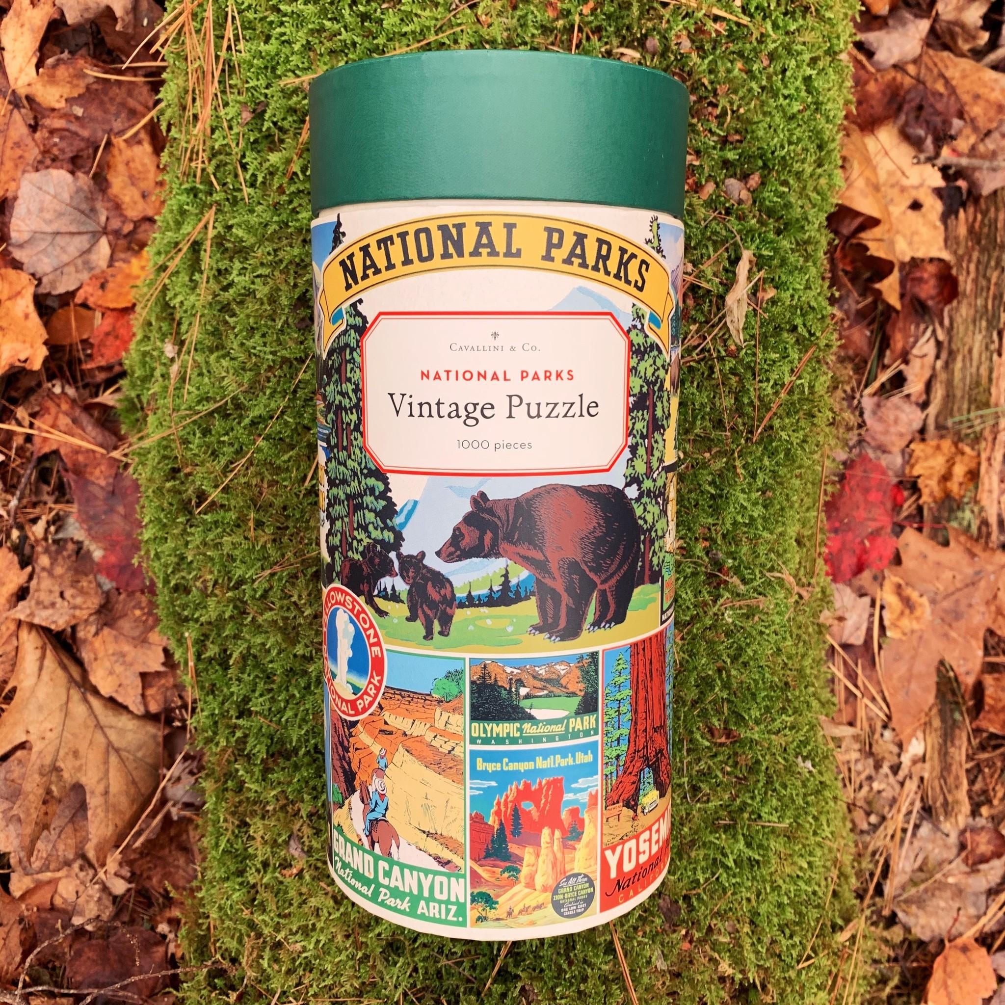 Cavallini Jigsaw Puzzle - National Parks - 1000 Pieces