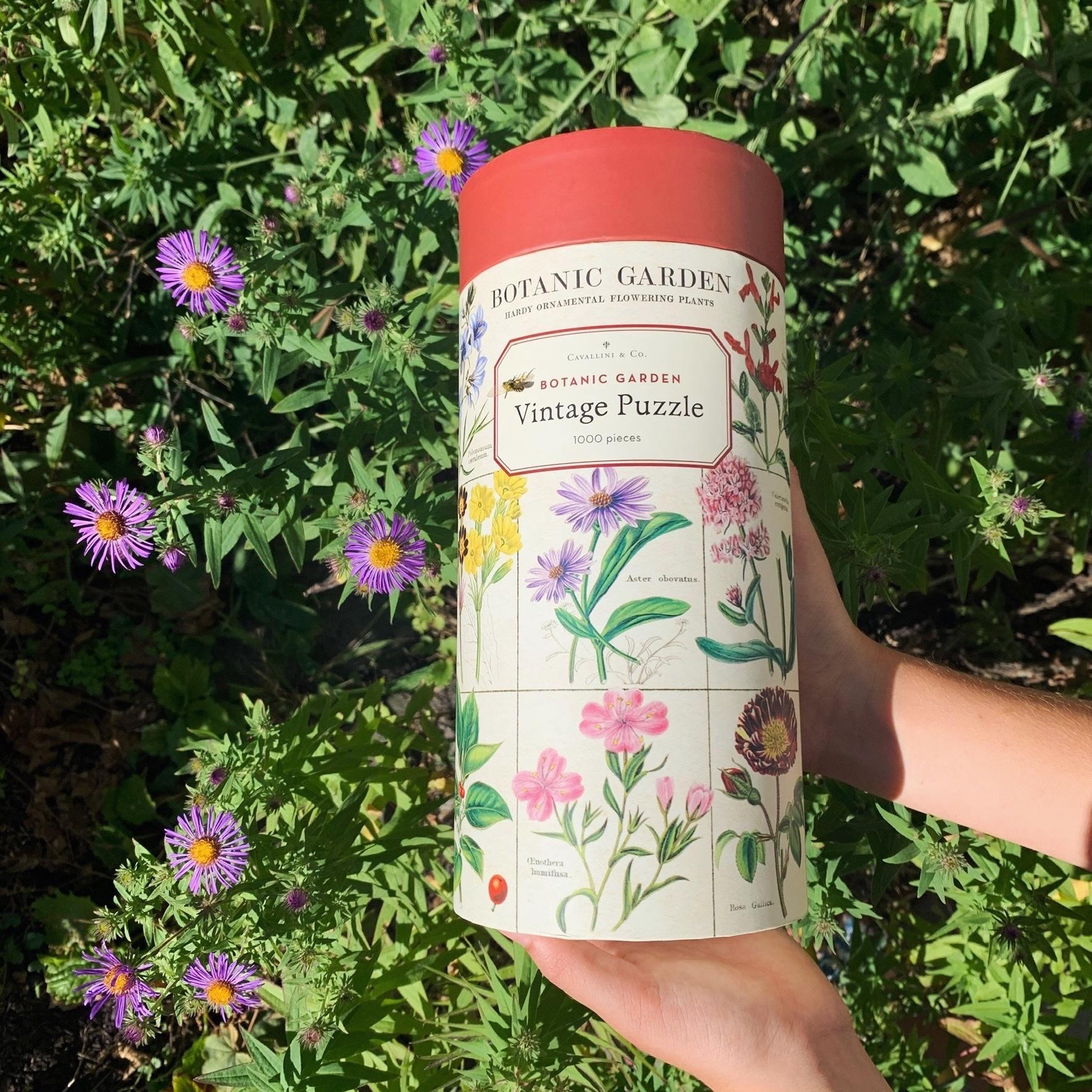 Cavallini Jigsaw Puzzle - Botanic Garden - 1000 Pieces