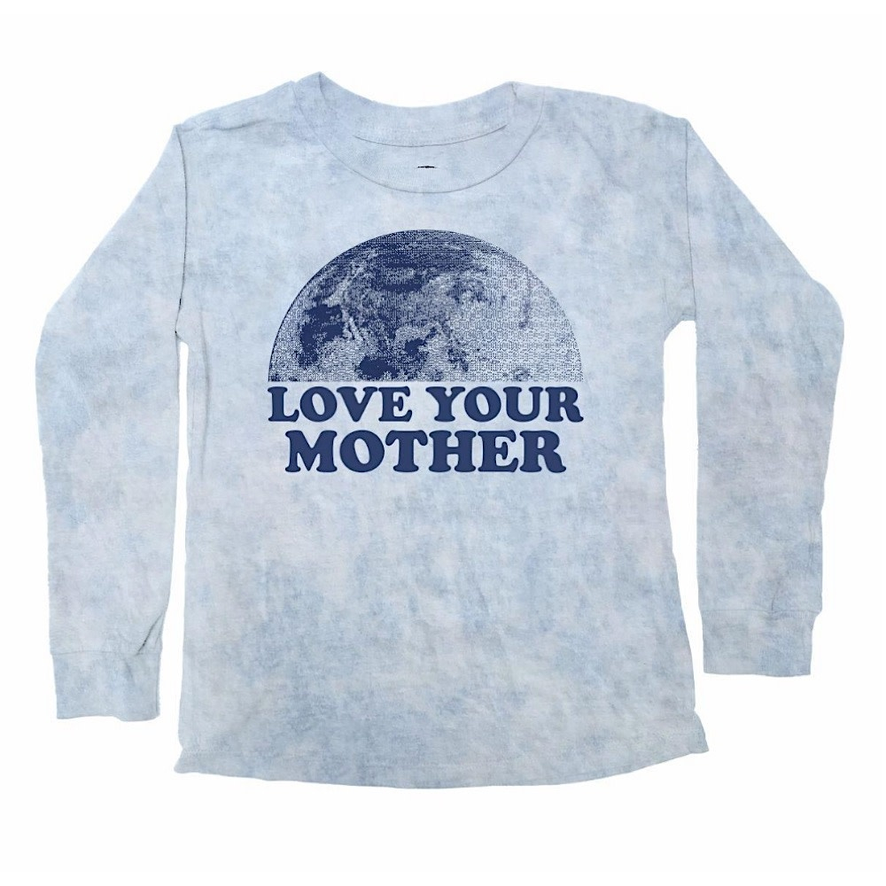 Tiny Whales Love Your Mother Long Sleeve - Light Blue Mineral