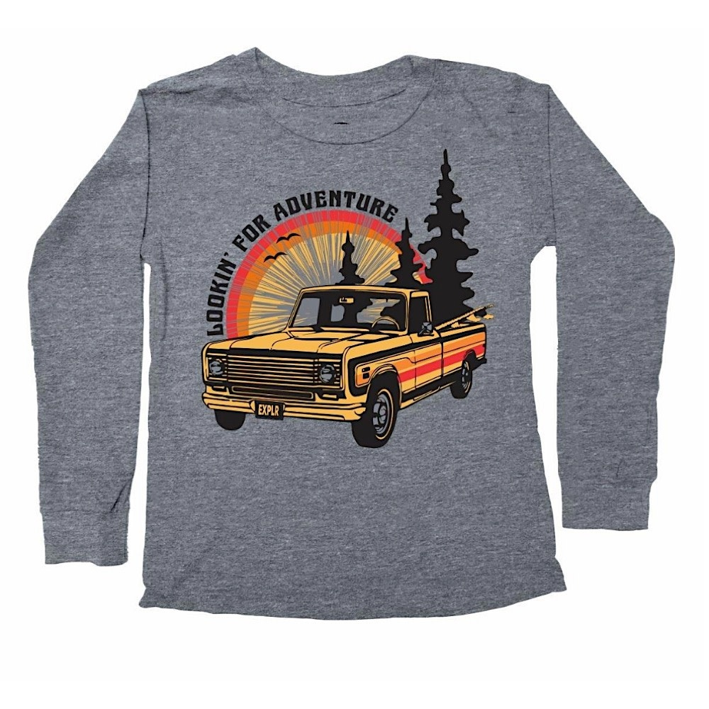 Tiny Whales Lookin' For Adventure Long Sleeve - Tri Gray