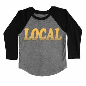 Tiny Whales Tiny Whales Local Raglan - Tri Gray/Black