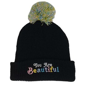 Tiny Whales Tiny Whales You Are Beautiful Beanie - Black