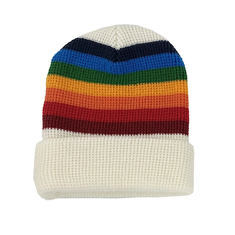 Tiny Whales Tiny Whales Little Cheerful Beanie - White/Multi