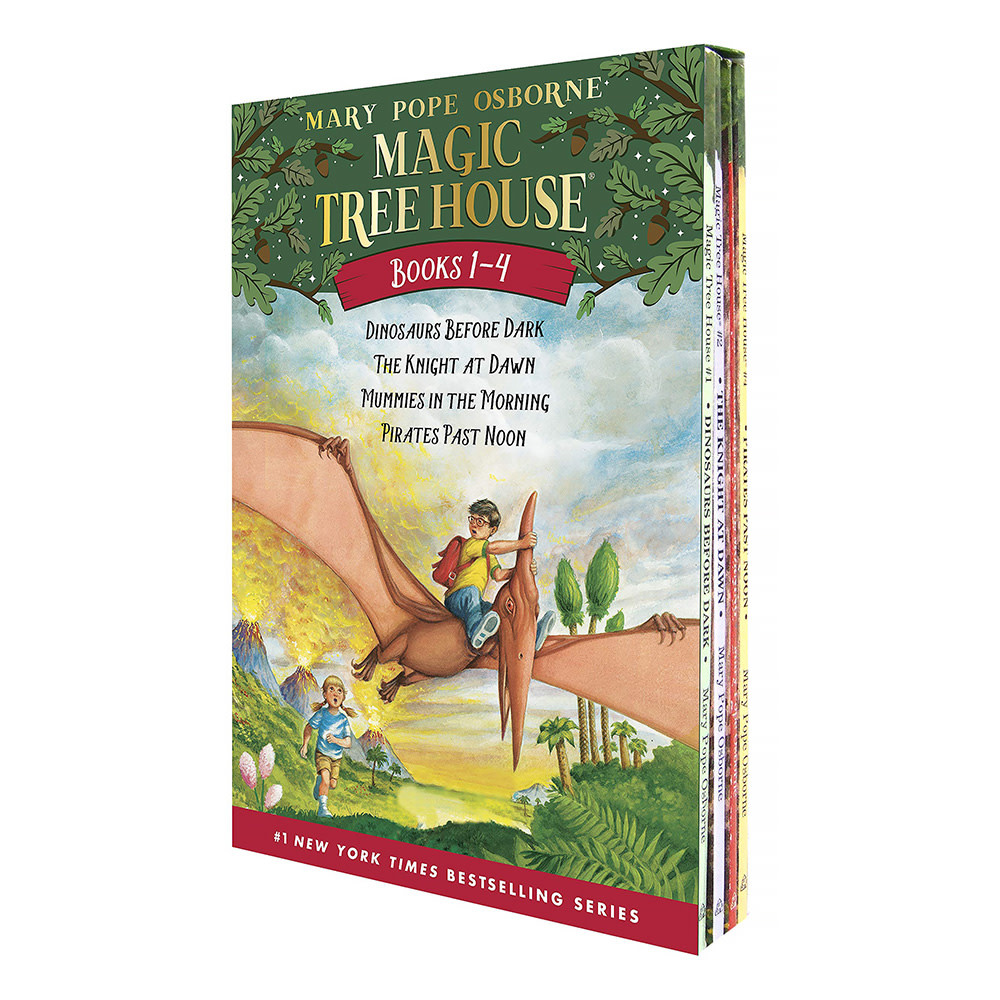 Random House Magic Tree House Boxed Set, Books 1-4: Dinosaurs Before Dark, The Knight at Dawn, Mummies in the Morning, and Pirates Past Noon