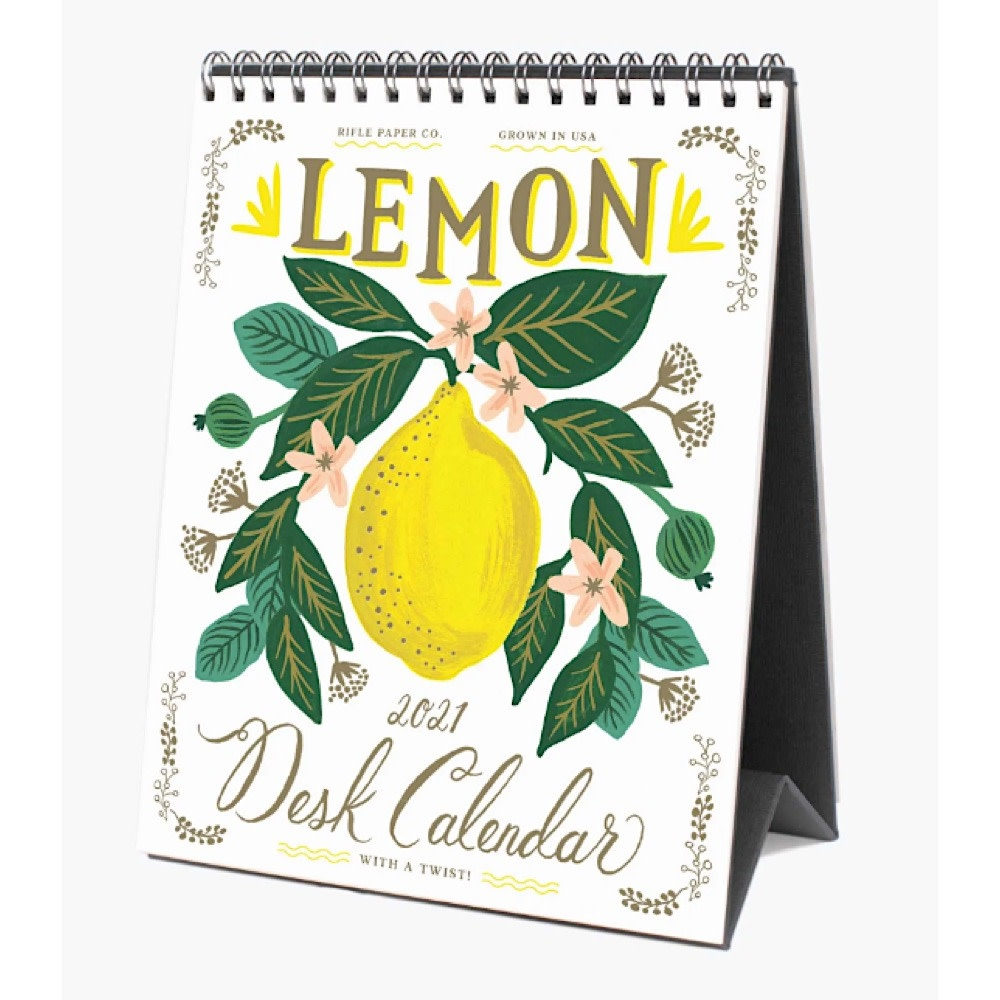 Rifle Paper Co. 2021 Desk Calendar - Lemon