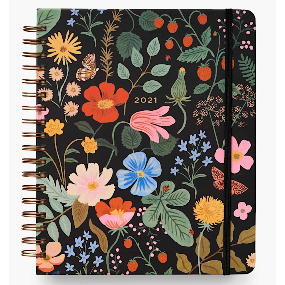 Rifle Paper Co. Rifle Paper Co. 2021 Spiral Bound Hardcover Planner - Strawberry Fields