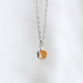 Thicket Thicket Honeycomb Prism Necklace - Sterling Silver