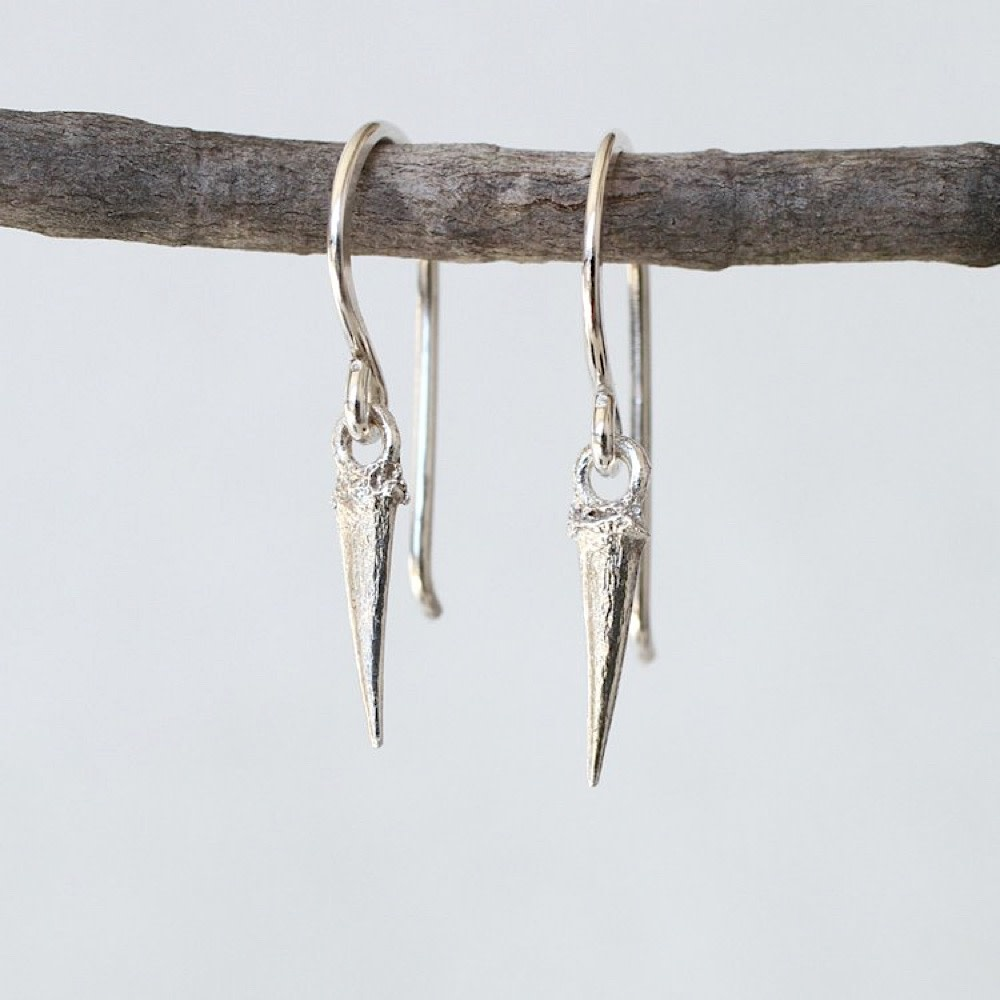 Thicket Sterling Silver Earrings - Catbrier Thorn