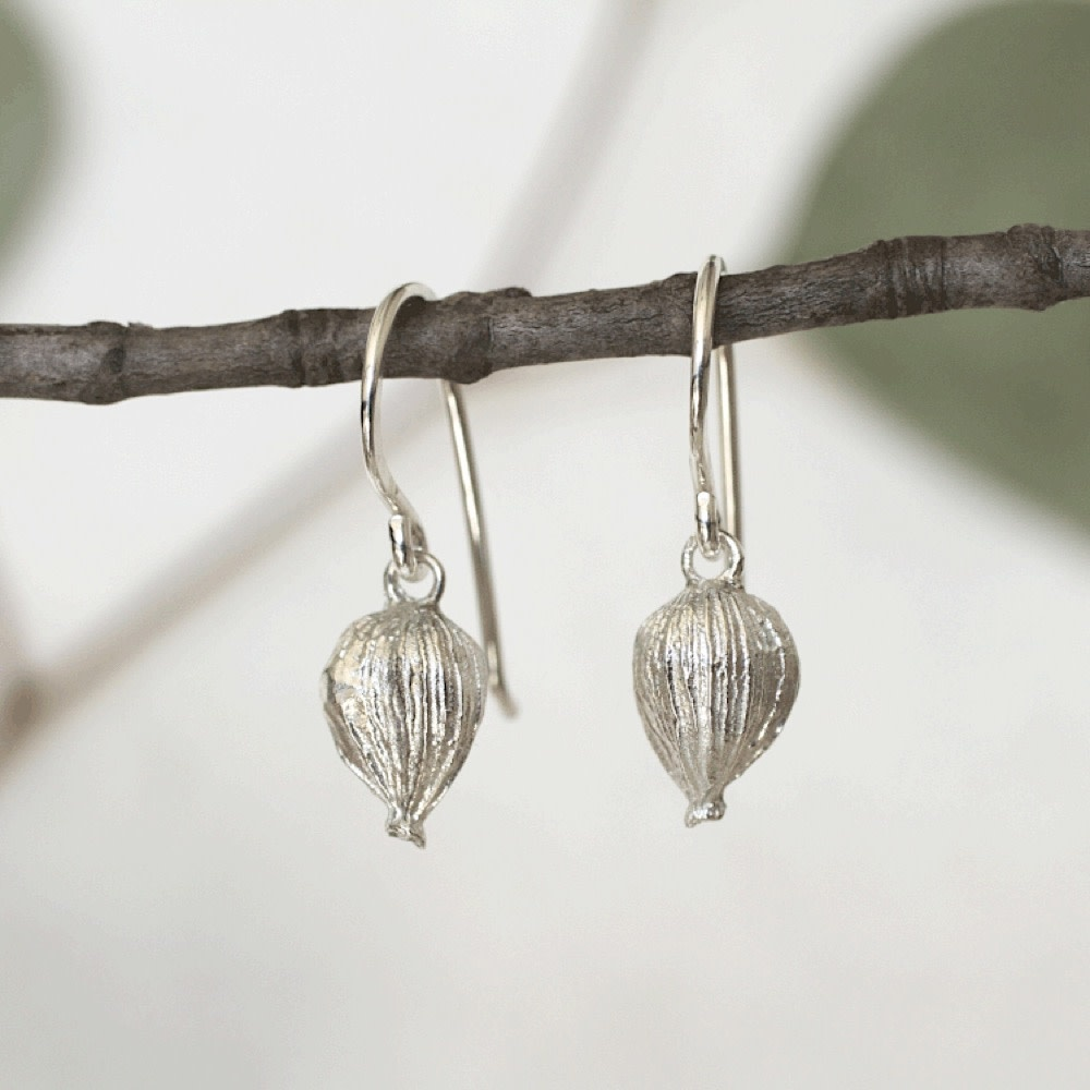 Thicket Sterling Silver Earrings - Cardamom Pods