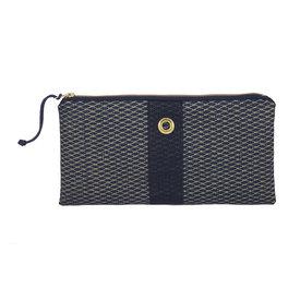 Alaina Marie Alaina Marie Bait Bag Clutch - Gold Print on Navy