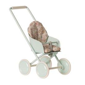 Maileg Maileg Micro Stroller - Sky Blue