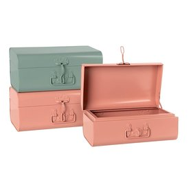 Maileg Maileg Storage Suitcase - Set of 3 - 2 Small Pink & 1 Small Blue
