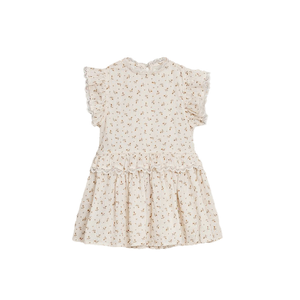 Noralee Gold Fleur Alice Dress - Shell