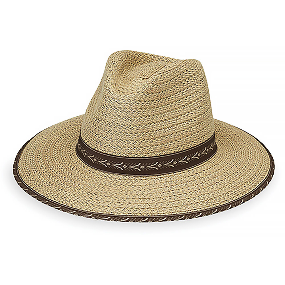 Wallaroo Hat Company Cabo Hat - Natural With Surf Trim