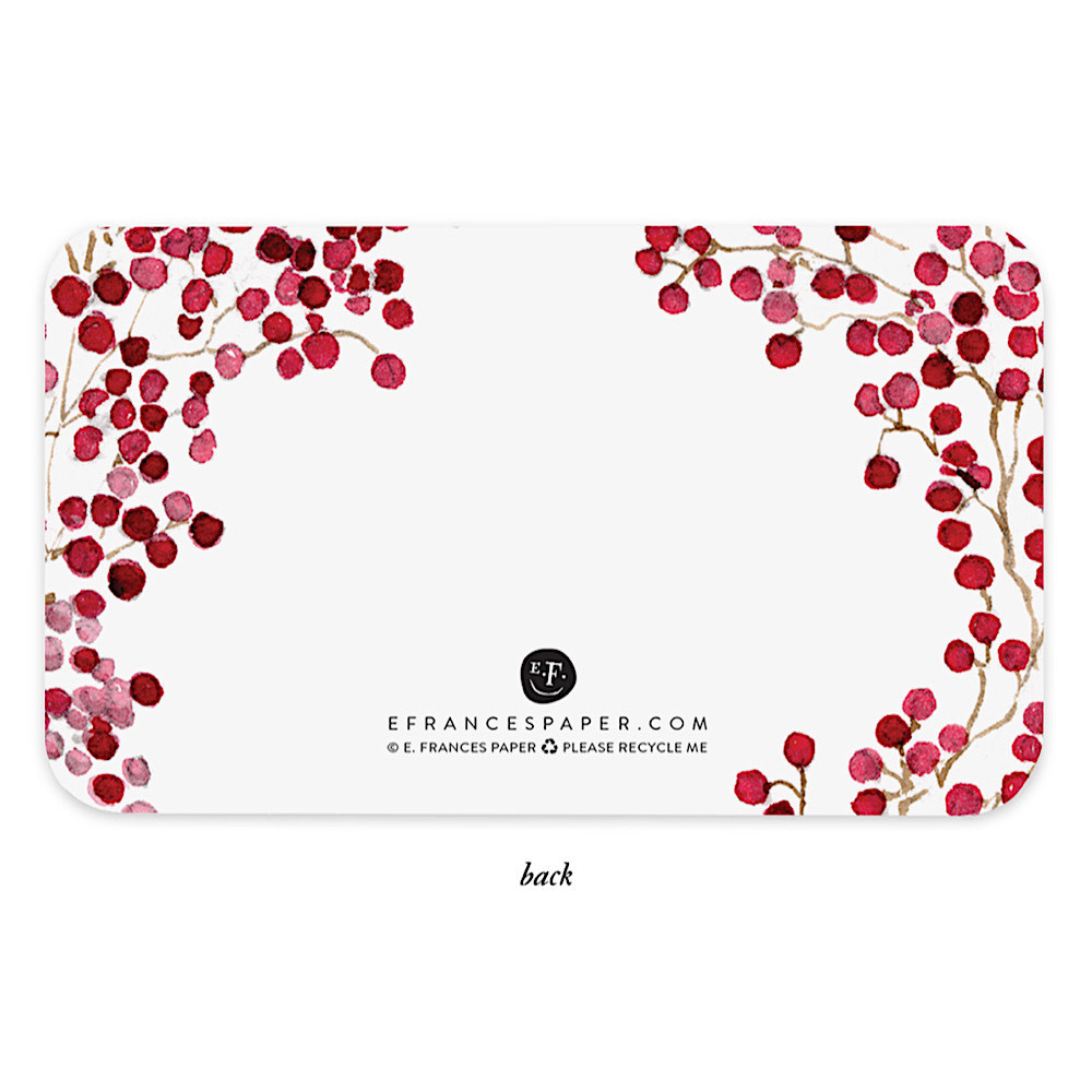 E Frances Red Berries Little Notes