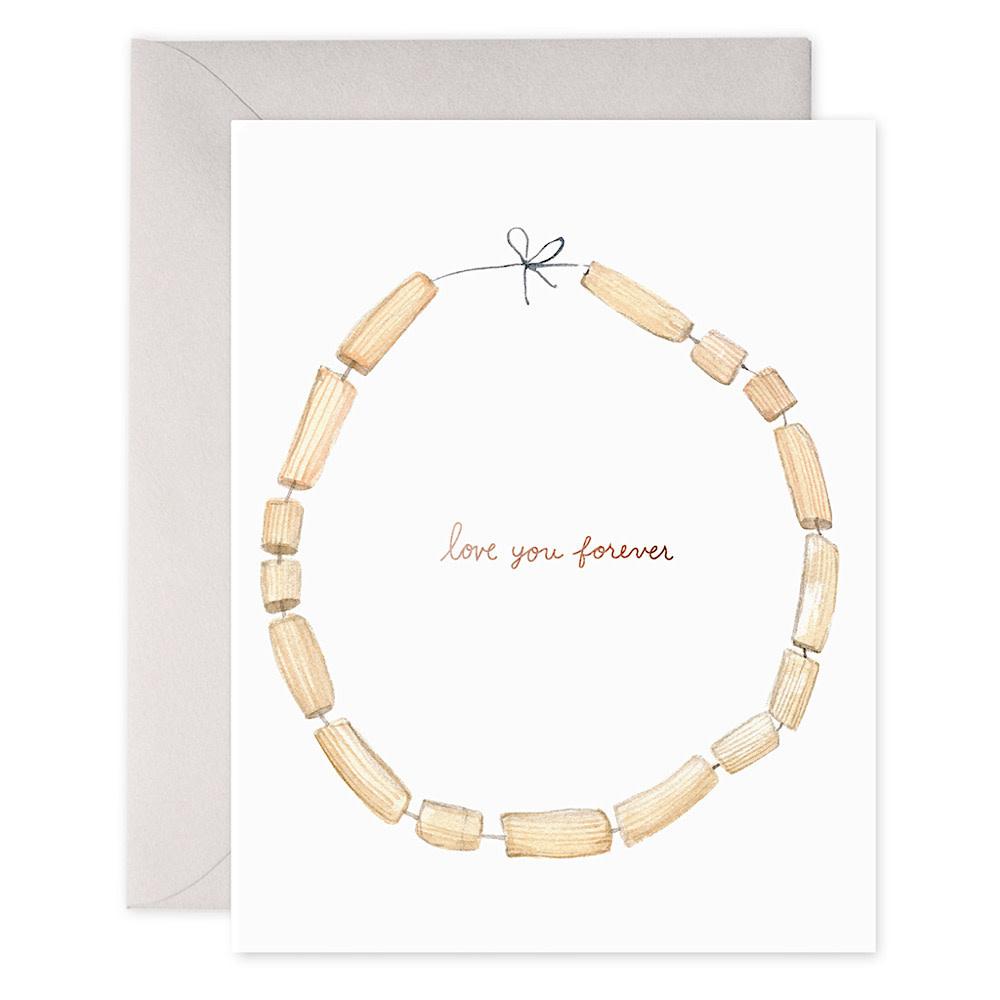 E Frances Macaroni Necklace Card