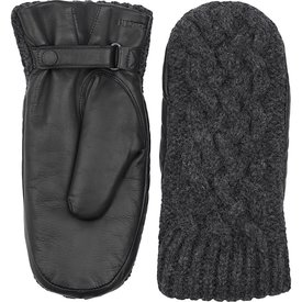 Hestra Hestra Womens Mitten - Ragnhild - Charcoal/Black