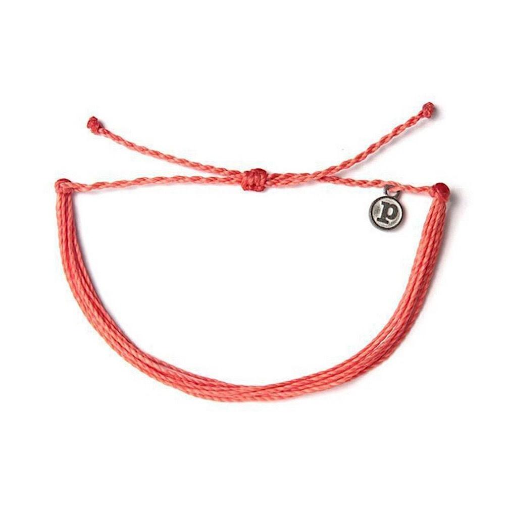 Pura Vida Original Bracelet - Classic Coral Solid