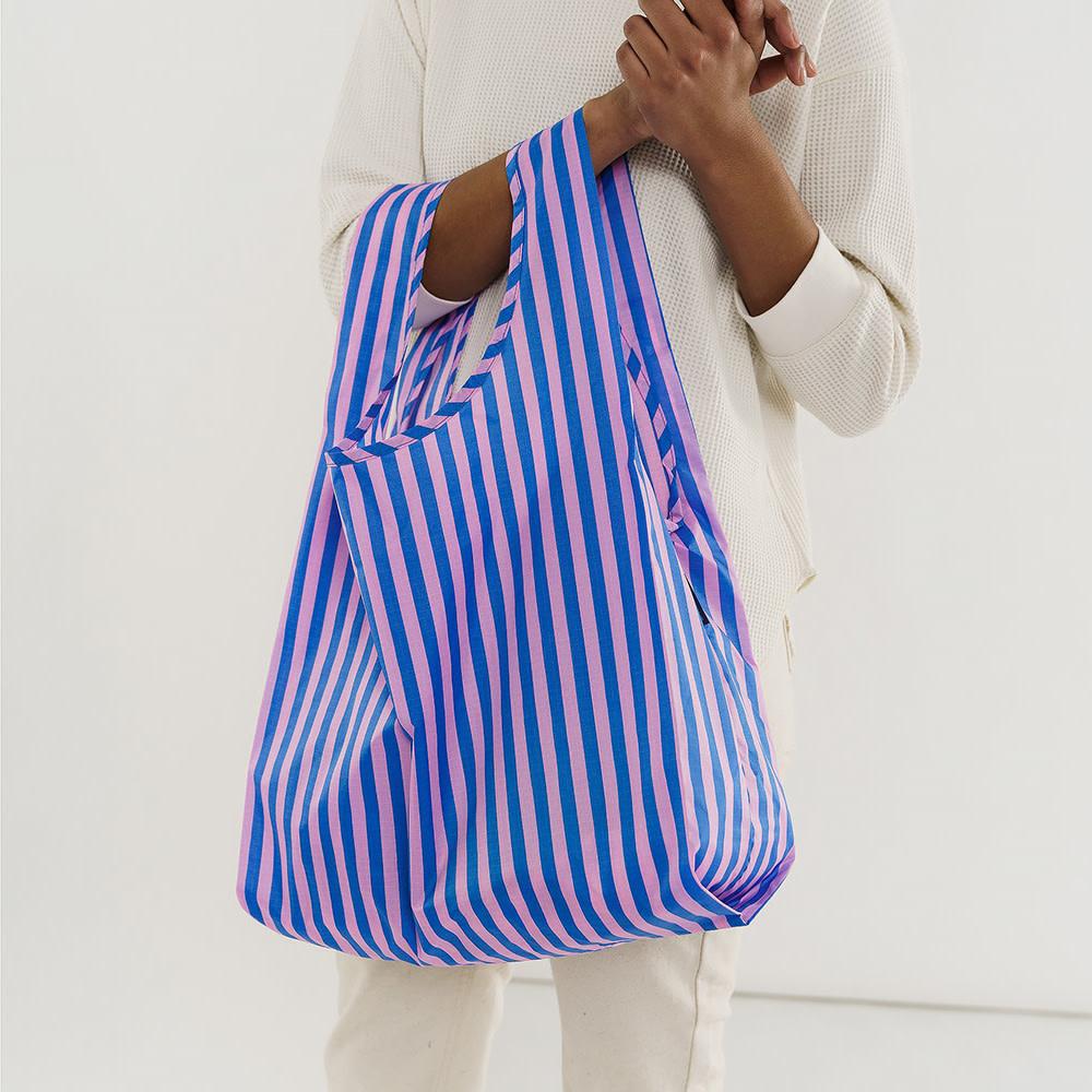Standard Baggu - Pink and Blue Stripe