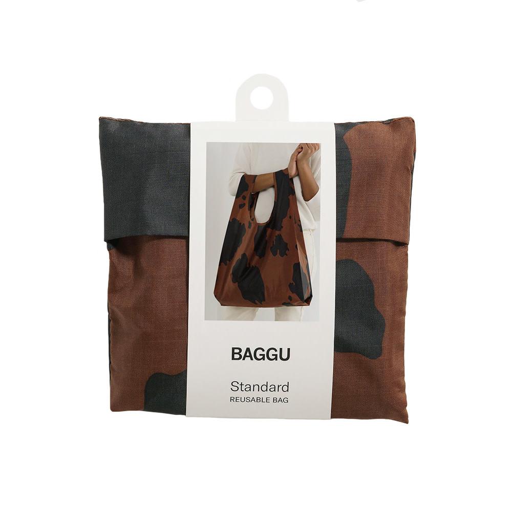 Standard Baggu - Black and Brown Cow