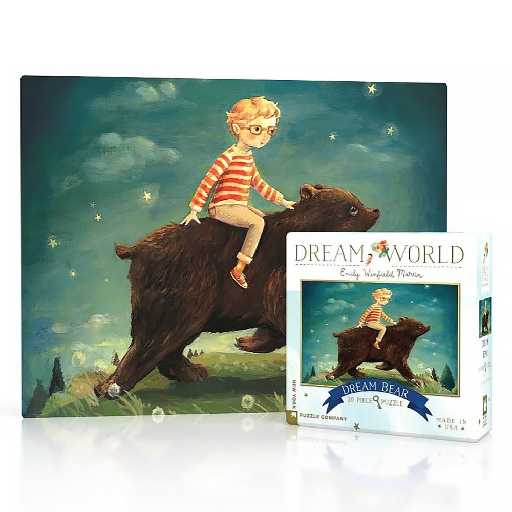 New York Puzzle Co - Dream Bear - 20 Piece Mini Jigsaw Puzzle