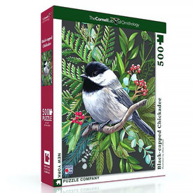 New York Puzzle Co. New York Puzzle Co - Black Capped Chickadee - 500 Piece Jigsaw Puzzle