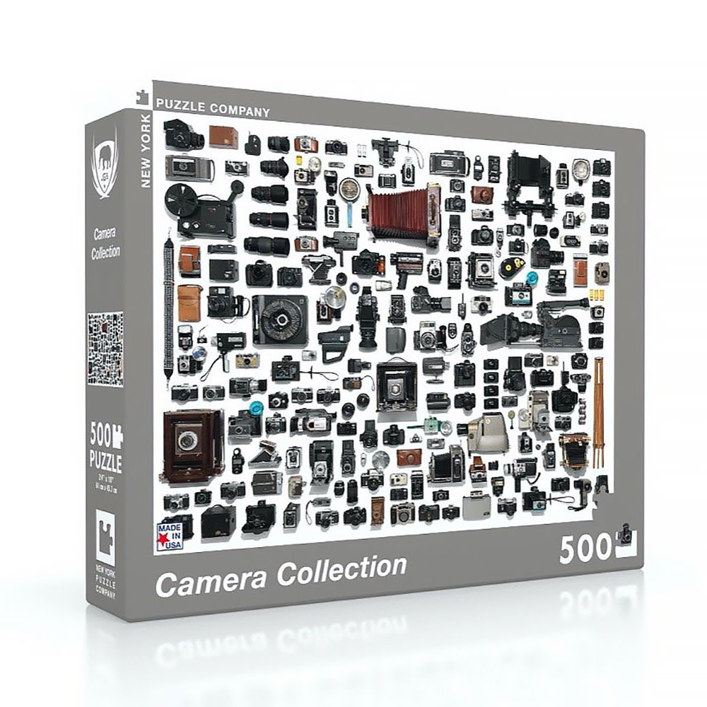 New York Puzzle Co. New York Puzzle Co - Camera Collection - 500 Piece Jigsaw Puzzle