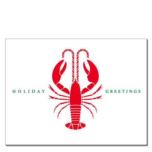 Daytrip Society Holiday Greetings Lobster Card