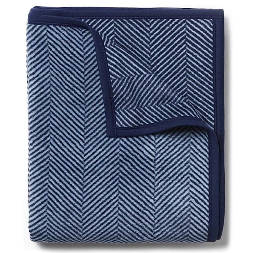 Chappywrap Blanket - Harborview Herringbone Navy