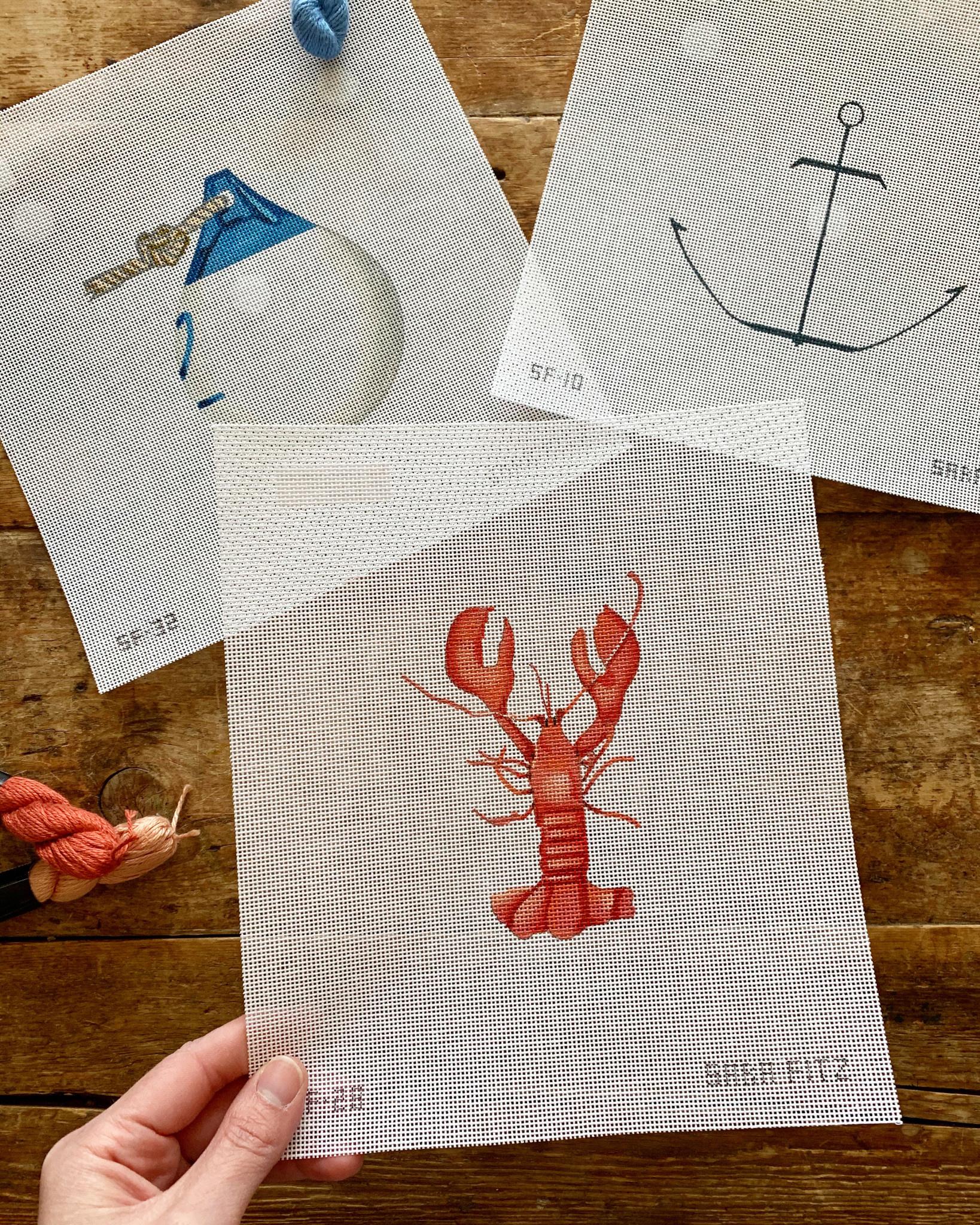 Sara Fitz Needlepoint Kit - Lobster