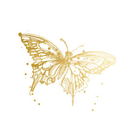 Tattly Tattly Tattoo 2-Pack - Butterfly - Gold