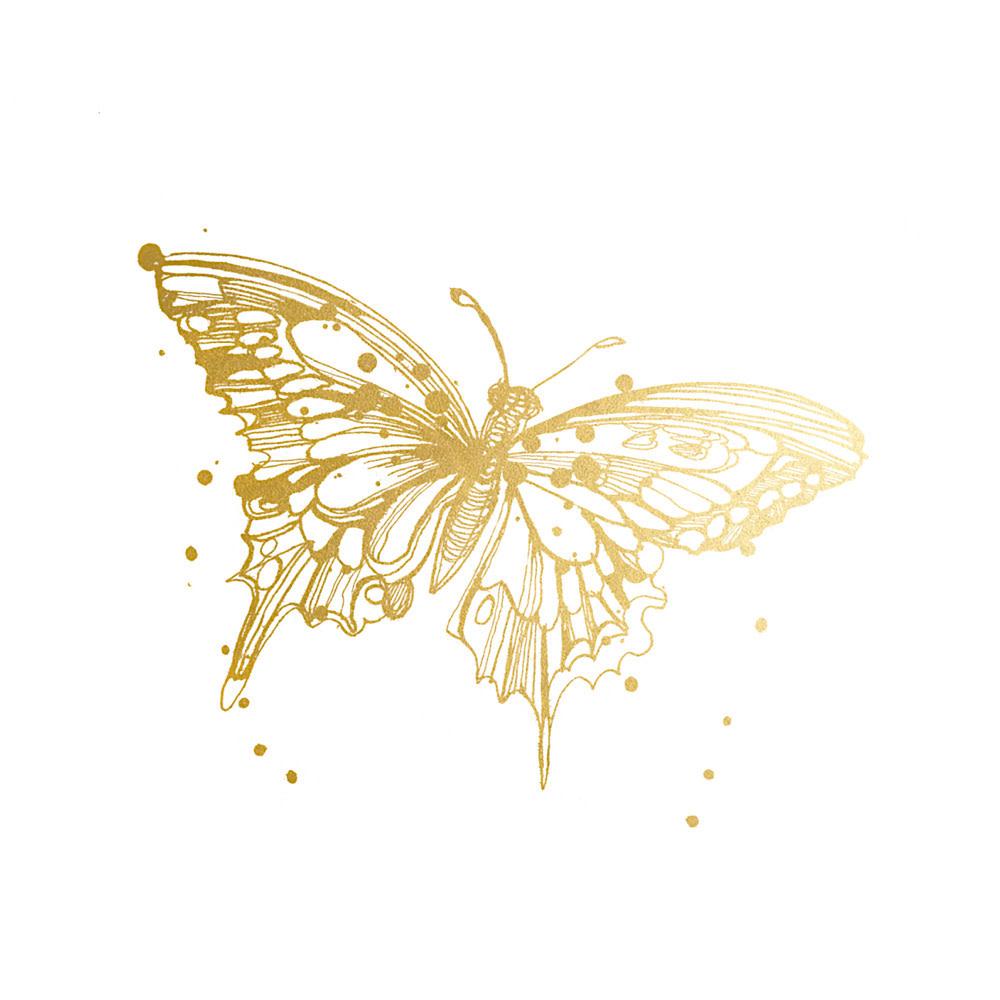 Tattly Tattly Tattoo 2-Pack - Butterfly - Gold