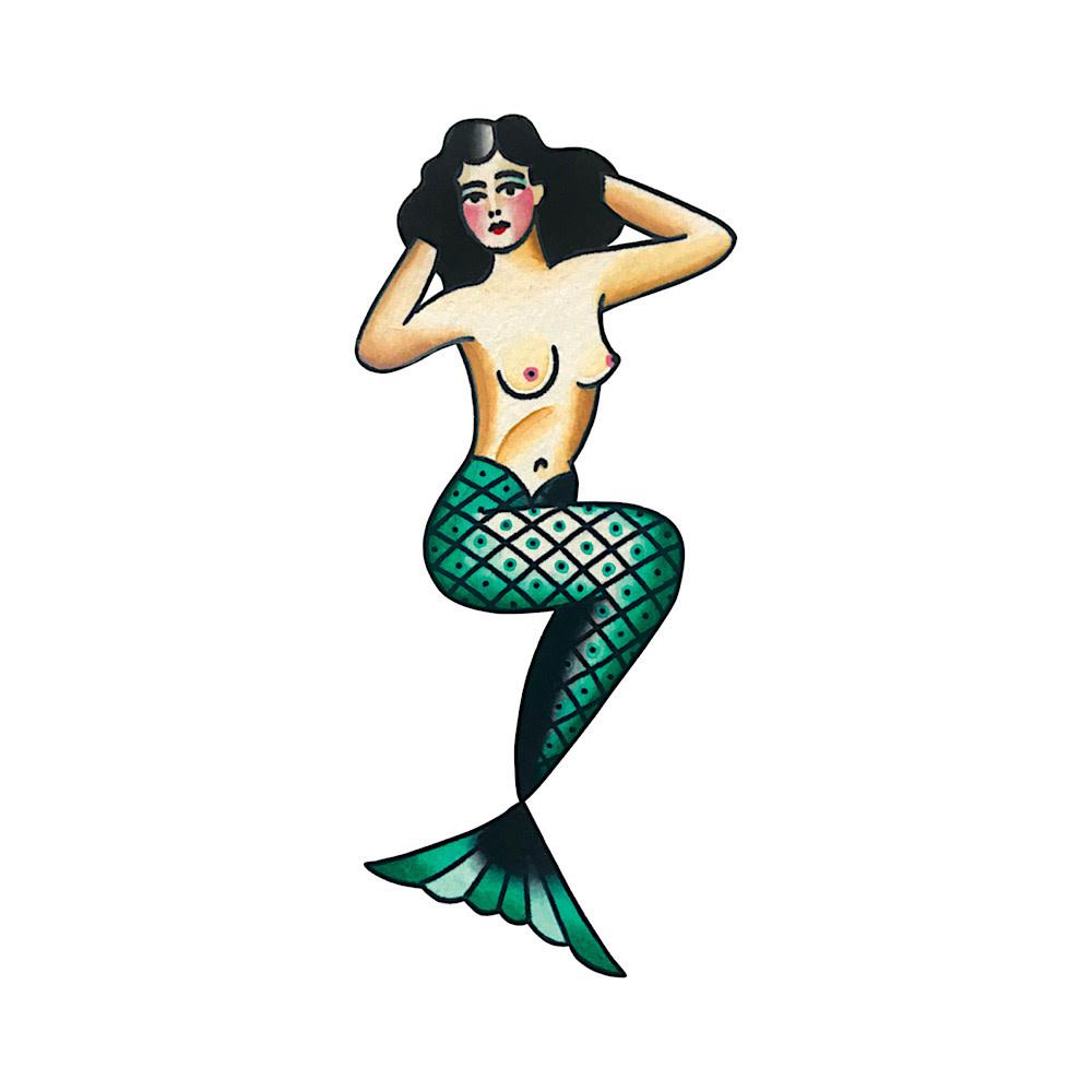 Tattly Tattly Tattoo 2-Pack - Mermaid