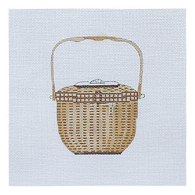 All About Stitching Sara Fitz Needlepoint Kit - Nantucket Basket
